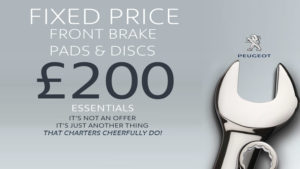 peugeot_fixed_price_front_brake_pads_and_discs_200_fitted_aldershot_camberley