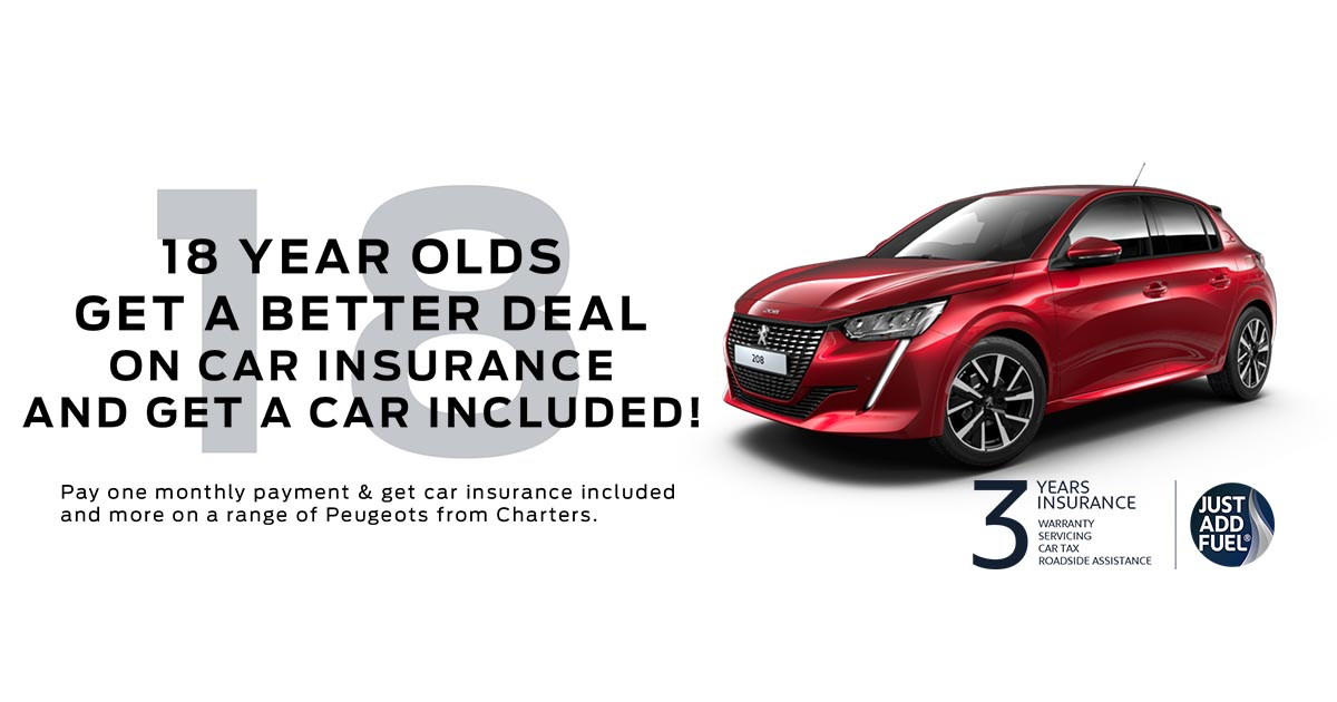 Your First Car Insurance Could Include A New Car Charters Peugeot