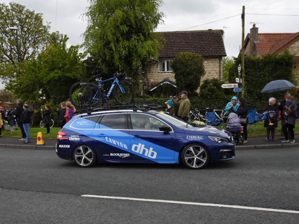 Peugeot 308 SW at the Tour de Yorkshire 2019