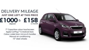108 Active 1.0 3 Door Active Manual | Delivery Mileage special £158 a month