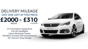 308 SW 1.2 130 GT Line Manual  | Delivery Mileage special £310 a month