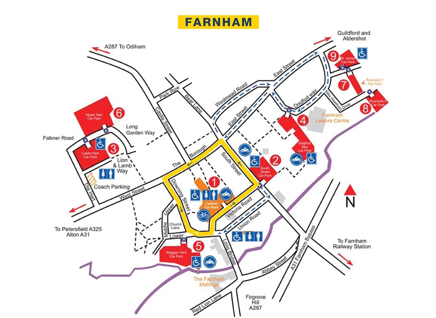 farnham-town-centre-races-2019-route-map